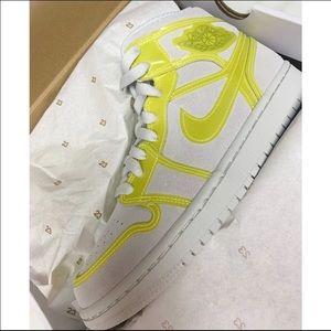 Air Jordan 1 Mid LX Off White Opti Yellow 8.5 W